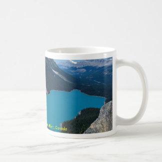Het Meer van Peyto, Icefield Brede rijweg met mooi Koffiemok
