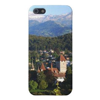 Het meer van Spiez van het kasteel van Thun iPhone 5 Hoesje