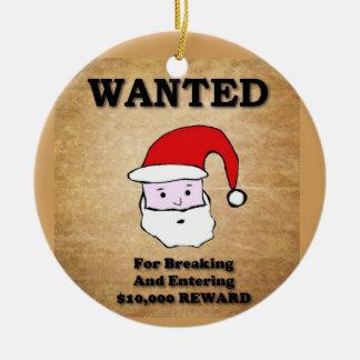 Het meest Gewilde kerstman Rond Keramisch Ornament