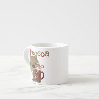 Het meisje draagt de Liefde van de Cacao Espresso Kop
