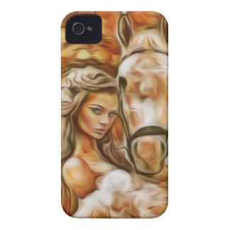 Het Meisje en het Paard van vrienden iPhone 4 Hoesje