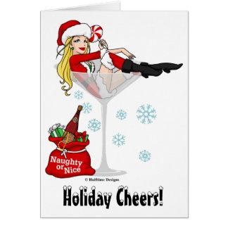 Het Meisje Martini van de kerstman Briefkaarten 0