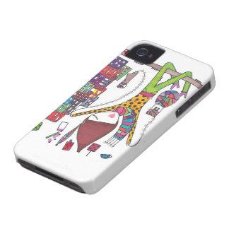 het meisje onderzoekt de stad op iphonehoesje iPhone 4 hoesje