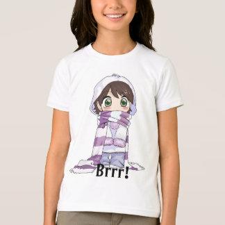 Het Meisje van Anime omhoog in de T-shirt die van