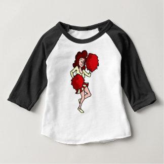 Het Meisje van Cheerleader van de cartoon Baby T Shirts