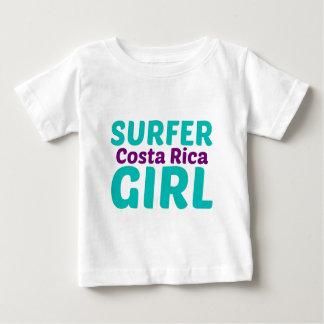 Het Meisje van Costa Rica Surfer Baby T Shirts