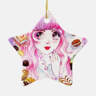 Het Meisje van de bakkerij Keramisch Ster Ornament