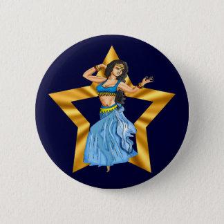 Het Meisje van de Buikdansen van de ster Ronde Button 5,7 Cm