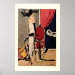 Het Meisje van de de jaren '20Vin van het art deco Plaat