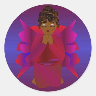 Het Meisje van de engel Ronde Sticker