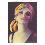het Meisje van de Glamour van de Zigeuner van jare Kaart