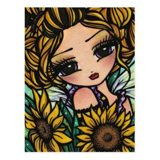 Het Meisje van de Kunst van de Fantasie van de Fee Briefkaart