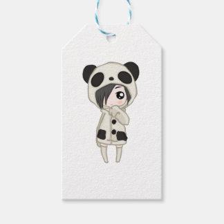 Het Meisje van de Panda van Kawaii Cadeaulabel