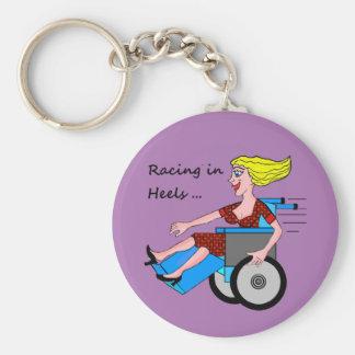 Het Meisje van de rolstoel in Hielen Sleutelhanger