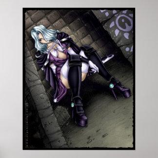 Het Meisje van de Strijder van Anime Poster