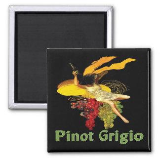 Het Meisje van de Wijn van pinot Grigio Magneet