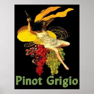 Het Meisje van de Wijn van pinot Grigio Poster