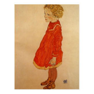 Het Meisje van Egon Schiele- met Blond Haar Briefkaart