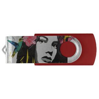 Het Meisje van Graffiti van de Kunst van de straat Swivel USB 2.0 Stick