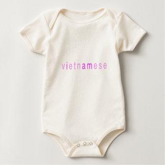 """Het Meisje van het baby """"ik ben Vietnamees """" Baby Shirt"""