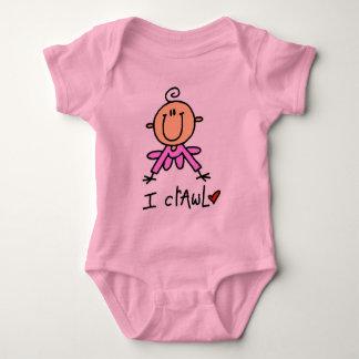 Het Meisje van het baby kruip ik T-shirts en