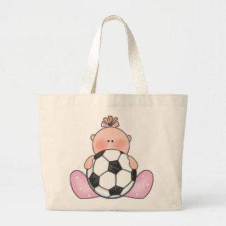 Het Meisje van het Baby van het Voetbal van Lil Grote Draagtas