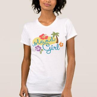 Het Meisje van het eiland - de Amerikaanse Kleding T Shirt