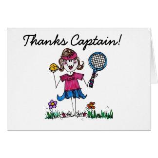 Het Meisje van het Tennis van de stok Wenskaart