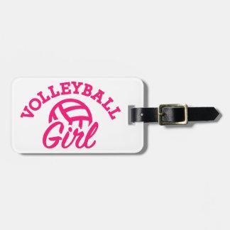 Het meisje van het volleyball kofferlabels