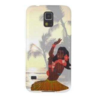 Het Meisje van Hula op het Strand van de Palm Galaxy S5 Hoesje