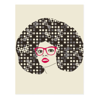 Het meisje van IT met sensuele rode lippen en Briefkaart