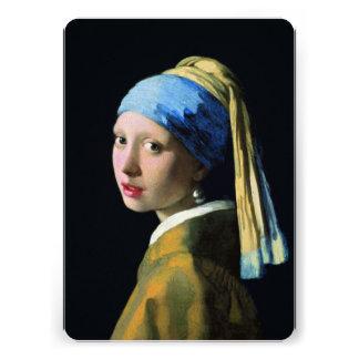 Het Meisje van januari Vermeer met een Barok Art Uitnodiging