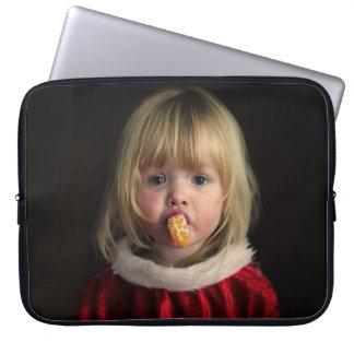 Het meisje van Kerstmis - Kerstmiskind - leuk Laptop Sleeve