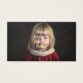 Het meisje van Kerstmis - Kerstmiskind - leuk Visitekaartjes