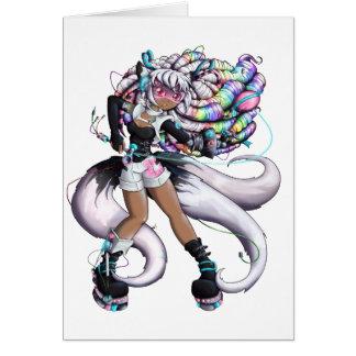 Het Meisje van Kitsune van Cyber Kaart