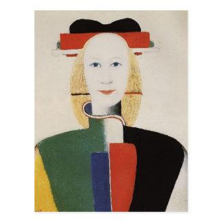 Het Meisje van Malevich- van Kazimir met een Kam Briefkaart