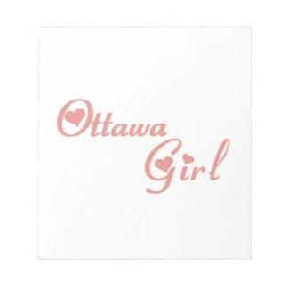 Het Meisje van Ottawa Notitieblok