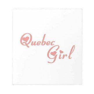 Het Meisje van Quebec Kladblok