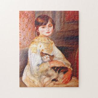 Het Meisje van Renoir met het Raadsel van de Kat Puzzel