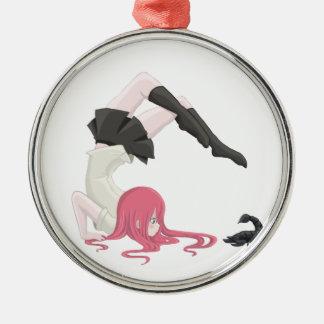 Het Meisje van Schorpioen Zilverkleurig Rond Ornament