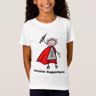 Het Meisje van Superhero van de Insuline van de T Shirt