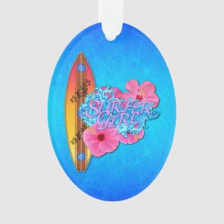 Het Meisje van Surfer Ornament