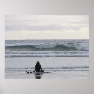 Het Meisje van Surfer Poster