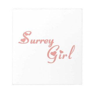 Het Meisje van Surrey Notitieblok