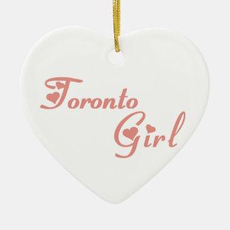 Het Meisje van Toronto Keramisch Hart Ornament