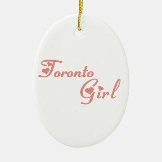 Het Meisje van Toronto Keramisch Ovaal Ornament