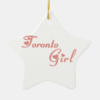 Het Meisje van Toronto Keramisch Ster Ornament