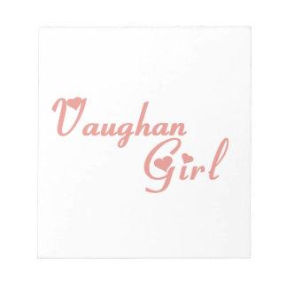 Het Meisje van Vaughan Notitieblok