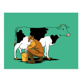 Het melken van de Humor van de Koe Briefkaart