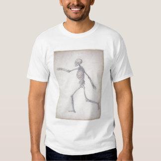 Het menselijke Skelet, zijuitzicht, van de reeks Tshirt